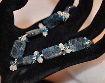 Kyanite, Apatite and Moonstone Bracelet