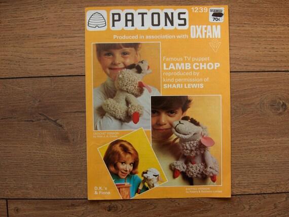 vintage 70s Shari Lewis LAMB CHOP puppet crochet by ...