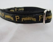 Pittsburgh Pirates Cat  or Small Dog Collar with Option of Black or Pink Backing