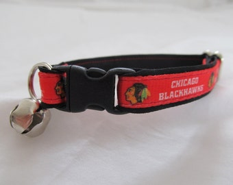Chicago Blackhawks Cat  or Small Dog Collar
