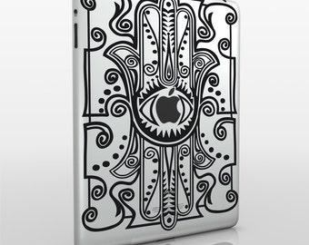 hamsa iPad decal, evil eye sticker art, iPad mini, iPad air sticker, FREE SHIPPING