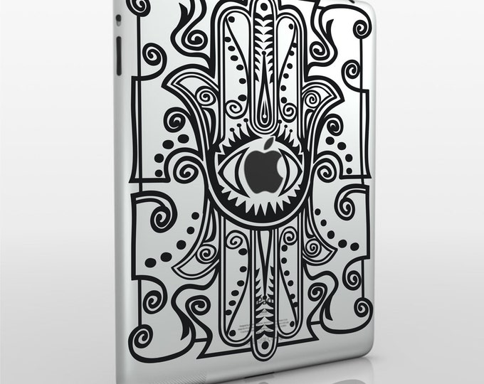 hamsa iPad decal, evil eye sticker art, iPad mini, iPad air sticker, FREE SHIPPING