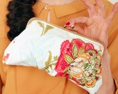 Bridal Clutch - Sale - A day in the countryside Lili - Last one - Wedding accessory / bridesmaid gift - Made in France