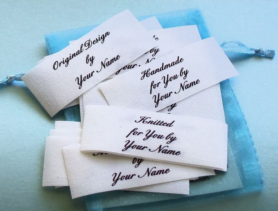 Clothing Tags: Sew In Cotton Fabric Custom Clothing Labels Name Tags