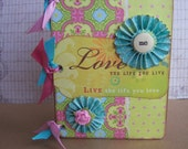 Mini Chipboard  Album -- Love Your Life