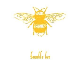 Golden Yellow Bumble Bee-print