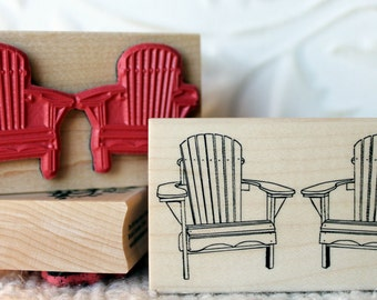 Adirondack Chairs rubber stamp from oldislandstamps