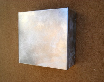 "Steel Light Sconce // 9"" x 9"" x 4"" Perfect Little Square"