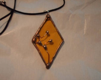 Stained Glass Gold Diamond Pendant