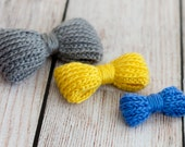Bow-licious Crochet PDF Pattern, Small Medium & Large bow included - Knit look but crocheted