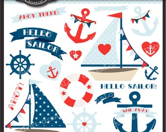 Hello Sailor Clip Art Collection Nautical Themed
