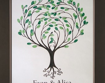 Heartsong Wedding Thumbprint Tree for up to 200 Guests