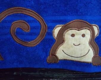 Blue Monkey Towel