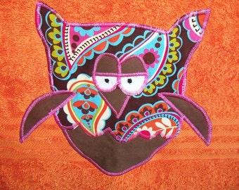 Orange Owl Towel