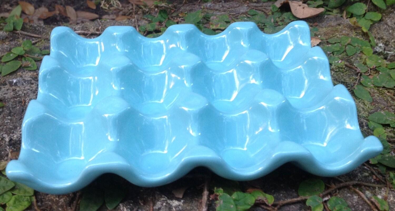 Ceramic Egg Crateaqua Egg Holder Farmers Market Go Green