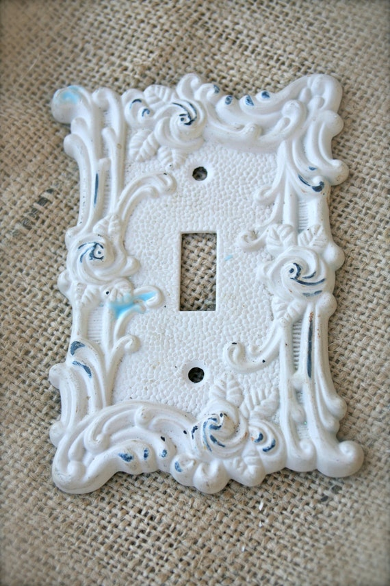 Distressed cast iron light switch cover