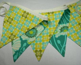Free USA Shipping/Green Fabric Banner/Fabric Banner/Fabric Flag/Photo Prop Banner/Birthday Pennant/Birthday Banner/Pennant