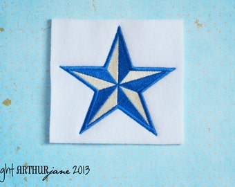 Nautical Star, INSTANT DIGITAL DOWNLOAD, Nautical Embroidery Design for Machine Embroidery 4x4