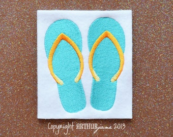 Flip Flops, INSTANT DIGITAL DOWNLOAD, Embroidery Design for Machine Embroidery 4x4