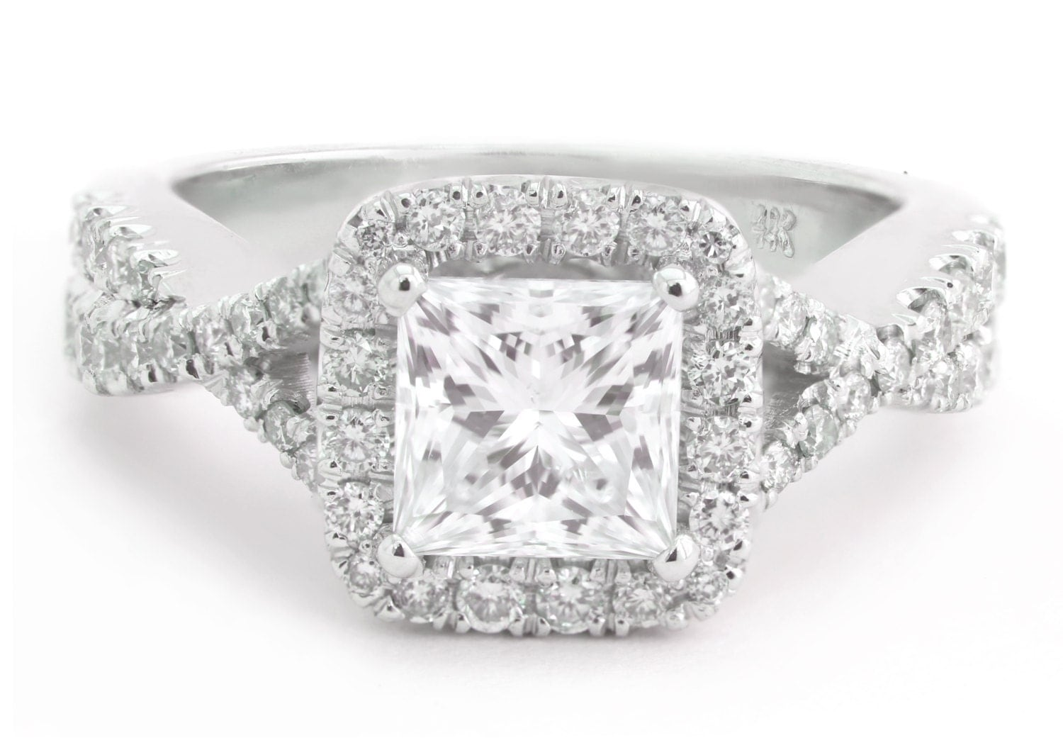 Vera Wang Princess Cut Engagement Rings