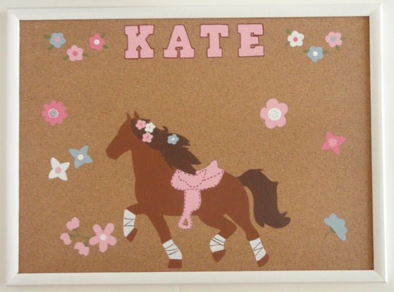 Pretty horse and flower bulletin board by silversprout on etsy for Pretty bulletin board