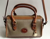 Dooney and Bourke speedy bag / Dooney and Bourke doctors bag / pebbled leather bag / taupe leather purse