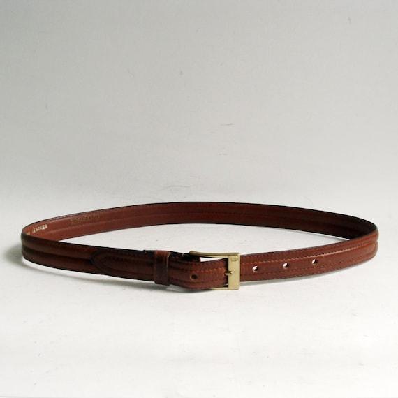 ysl belt yves laurent belt brown leather belt