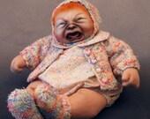 Maddie, original OOAK cloth oil painted baby