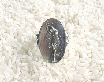 Muse of Dance Sterling Silver Cameo Ring