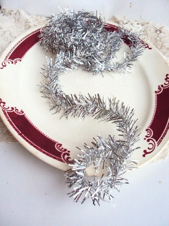 Vintage Christmas Feather Tree Tinsel Garland in Antique ...