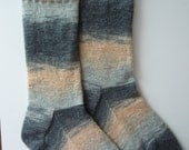 Hand Knitted Mens Wool Socks Size UK 4 - 7 / US 6 - 9