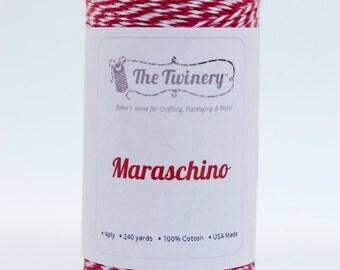 Full Spool - 240 Yards - Maraschino Red Baker's Twine