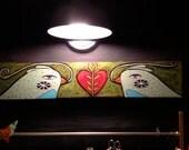 Love bird box painting