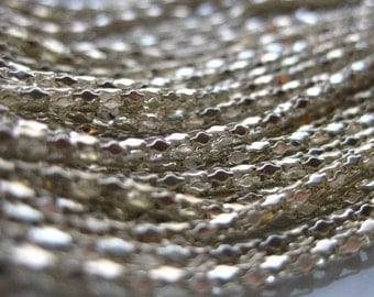 Bright Silver 2mm Round Hollow Mesh Chain 1 Foot (30cm)