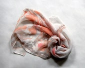 Marbled Silk Chiffon Scarf vi