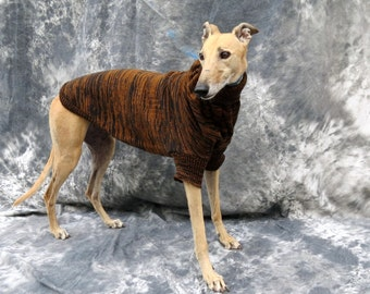 Greyhound Sweater Brown/Black Brindle, Medium