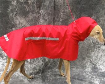 Greyhound Raincoat, red, medium, female