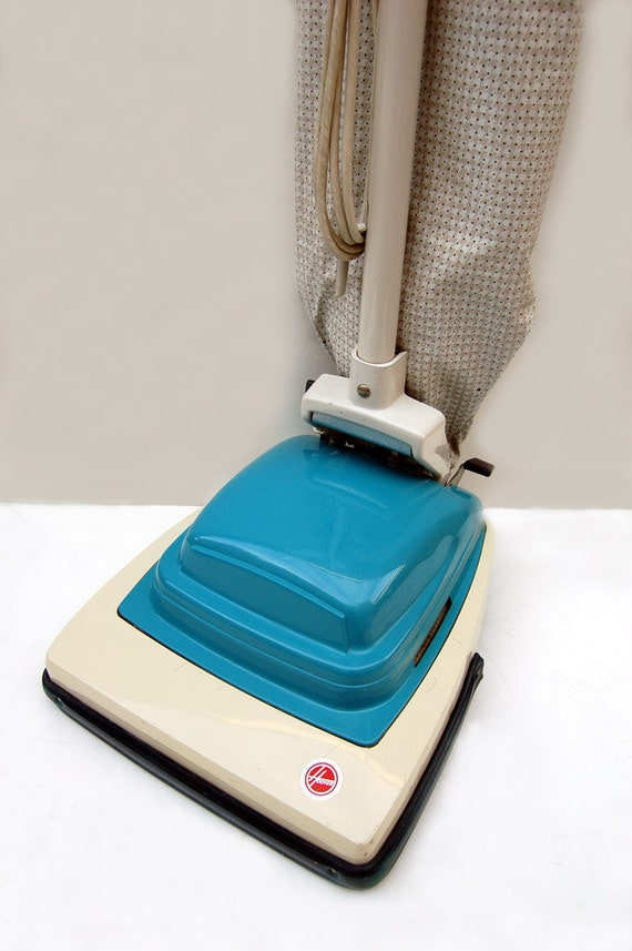 Collectable Vintage Hoover Upright Vacuum In Turquoise