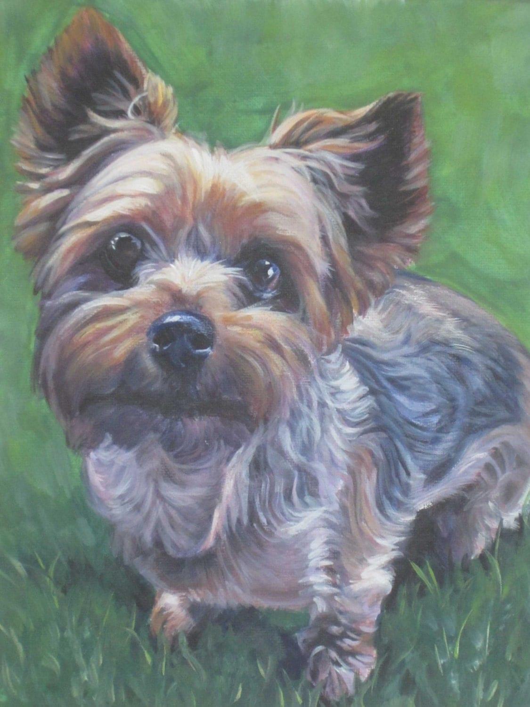 Yorkshire Terrier Yorkie Dog Art Canvas Print Of La Shepard
