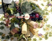 Vineyard wedding, kissing ball/ flower girl bouquet/vineyard decor, Tuscany theme