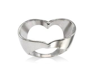 Heart Ring, Sterling Silver Open Heart  Ring, Open Heart Ring, Bridal Jewelry, Heart Ring, Gifts For Her, Minimalist Ring, Free Shipping
