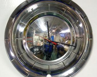 1954 Plymouth Hubcap Clock - Classic Car Wall Clock - Automotive Decor