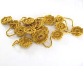 Summer  Flowers-------------yellow Knitting necklace
