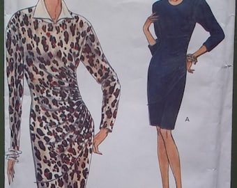 """dress sewing pattern VOGUE 8417 fitted tapered DRESS misses size 6-8-10 bust 30-32 1/2"""""""