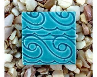 TURQUOISE WAVE Mosaic Tile