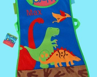 Pesonalized Child's Stephen Joseph Craft Apron DINO Themed Art Smock-Monogramming Included