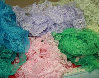 80 yards of Vintage Lace in Cotton Candy Colors