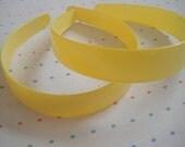 Extra Wide Yellow Plastic Headbands (2)