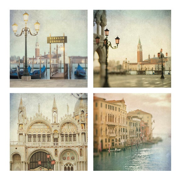Venice Photography - Classic Views of Venice, Italy, Architectural Travel Photographs, Dreamy Wall Decor