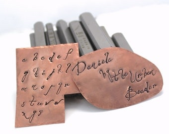 Daniela Combo Uppercase & Lowercase Alphabet Letter Metal Stamps Metal Design Stamp Jewelry Stamping Tool